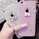 Glitter phone case with bowknot