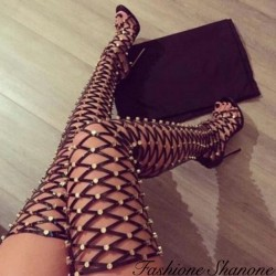 High-heeled studded gladiator sandals