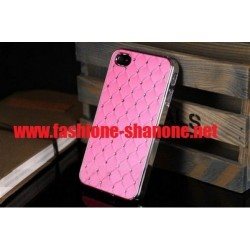 Coque IPHONE 5/5S rose avec strass
