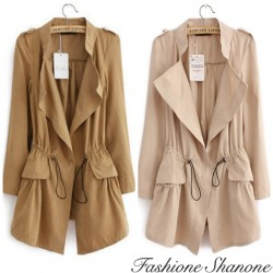 Veste longue style trench