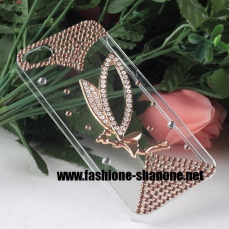 Coque IPHONE 5/5S fée avec strass