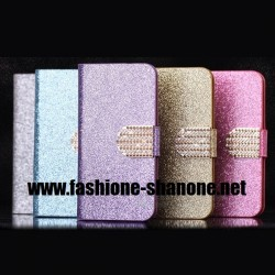 Coque IPHONE 5C refermable à paillette