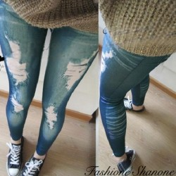 Jegging skinny troué