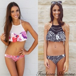 Fashione Shanone - High neck bikini with flounce