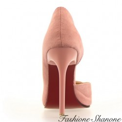 Fashione Shanone - Open red sole pumps