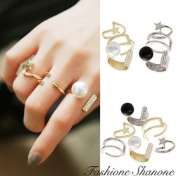 Fashione Shanone - Set of 3 rings with pearl