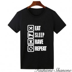 "Fashione Shanone - ""Eat, sleep, rave, repeat"" T-shirt"