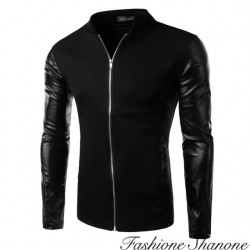 Fashione Shanone - Jacket with leather sleeves