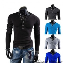 Fashione Shanone - Buttoned long sleeves T-shirt