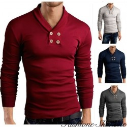 Fashione Shanone - Long sleeve double breasted T-shirt