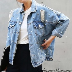 Fashione Shanone - Beaded denim jacket