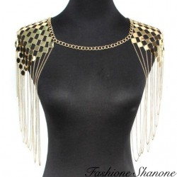Fashione Shanone - Epaulette necklace with chains