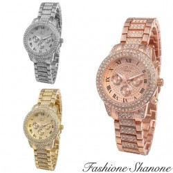 Fashione Shanone - Steel watch with crystals