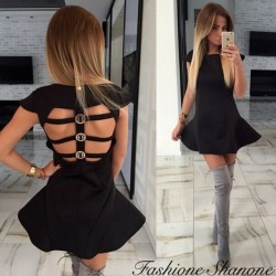 Fashione Shanone - Flared open back dress
