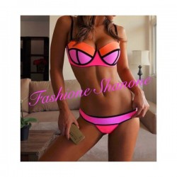 Bikini neoprene Pink Purple and orange