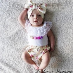 Fashione Shanone - Floral short top and headband set
