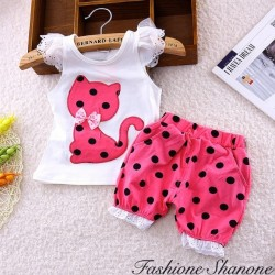Fashione Shanone - Ensemble short et top petit chat
