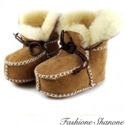 Fashione Shanone - Fur-lined boots with lace-up