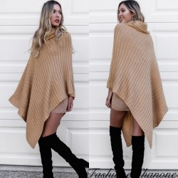 Fashione Shanone - Turtleneck poncho