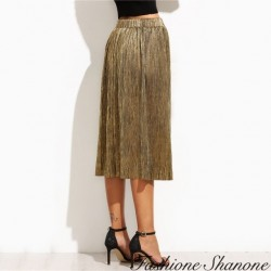 Fashione Shanone - Pleated knee-lenght skirt