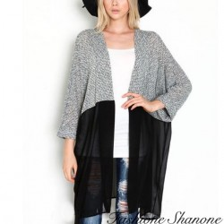 Fashione Shanone - Long semi-transparent cardigan