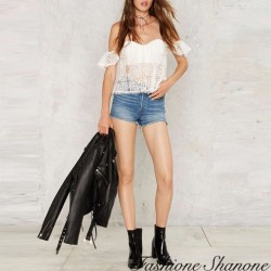 Fashione Shanone - Lace shoulder off top