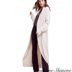 Fashione Shanone - Off white long cardigan