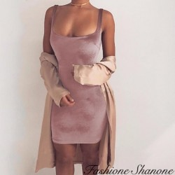Fashione Shanone - Slinky velvet dress