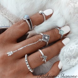 Fashione Shanone - 5 vintage rings set