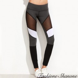 Fashione Shanone - Sport pants with transparent patchwork