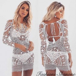 Fashione Shanone - White lace dress