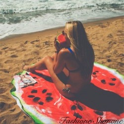 Fashione Shanone - Watermelon round beach blanket