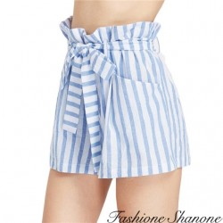 Fashione Shanone - White and blue striped shorts
