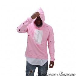 Fashione Shanone - Sweat rose troué