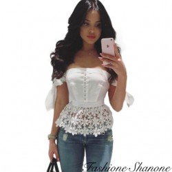 Fashione Shanone - Lace peplum top