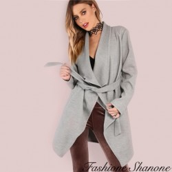 Fashione Shanone - Grey trench jacket
