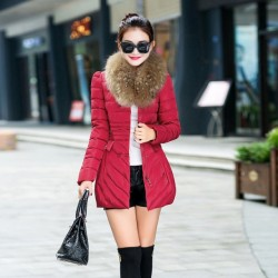 Fashione Shanone - Long coat with fur collar