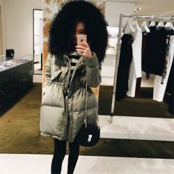 Fashione Shanone - Long down coat with fur hood
