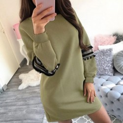 Fashione Shanone - Khaki sweatshirt dress