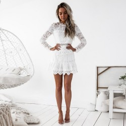 Parisian in Miami - Lace trapeze dress