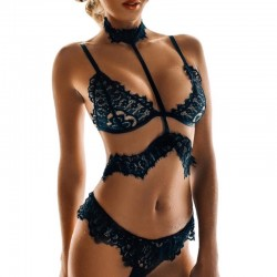 Fashione Shanone - Lace lingerie set with choker