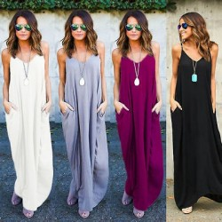 Casual long dress with pockets