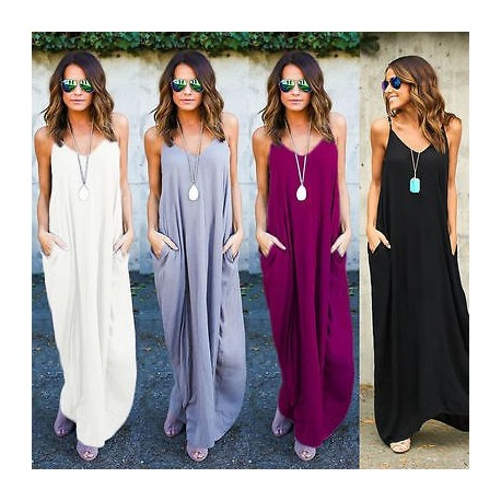 Fashione Shanone - Casual long dress with pockets