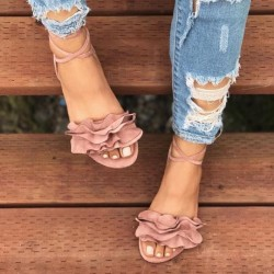 Fashione Shanone - Lace up flat sandals