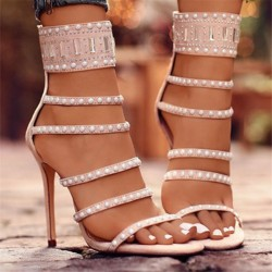 Fashione Shanone - Heeled sandals with pearls