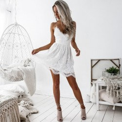Fashione Shanone - Lace dress with backless