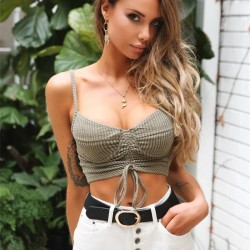 Fashione Shanone - Lace up crop top