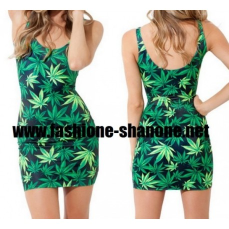 Robe feuille de cannabis