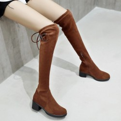 Fashione Shanone - Round toe over the knee boots