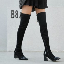 Fashione Shanone - Over the knee boots with varnish toe